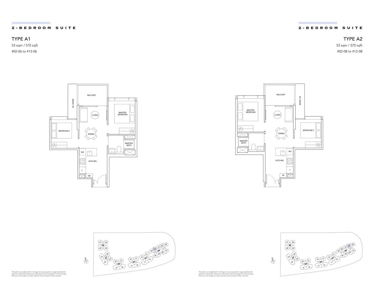Hyll-on-Holland-floor-plan-2-bedroom-suite-type-a1